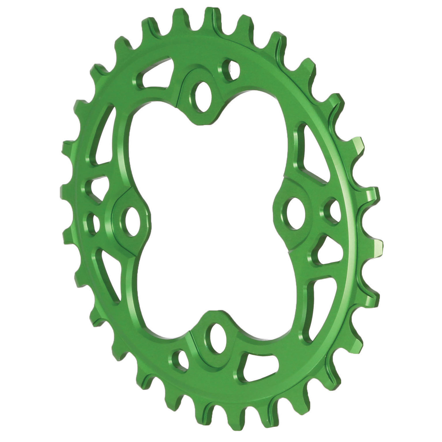 104 Oval Chainring, 64BCD 28T - Green