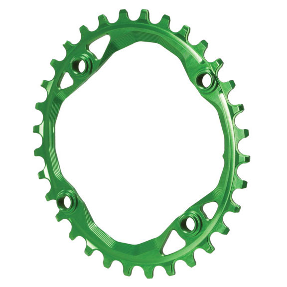 104 Oval Chainring, 104BCD 32t - Green