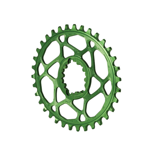 Spiderless GXP DM Oval Chainring, 34T - Green