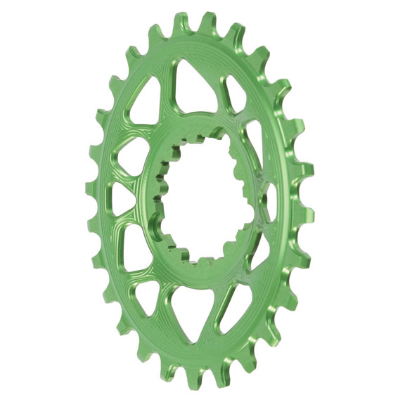 Spiderless GXP DM Oval Chainring, 26T - Green