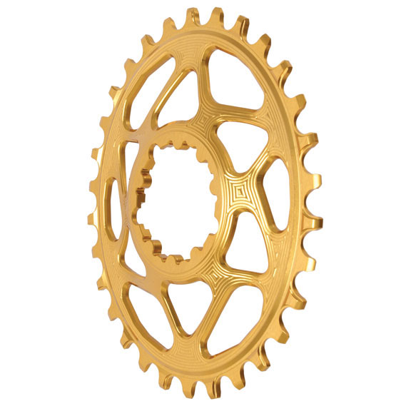 Spiderless GXP DM Oval Chainring, 30T - Gld