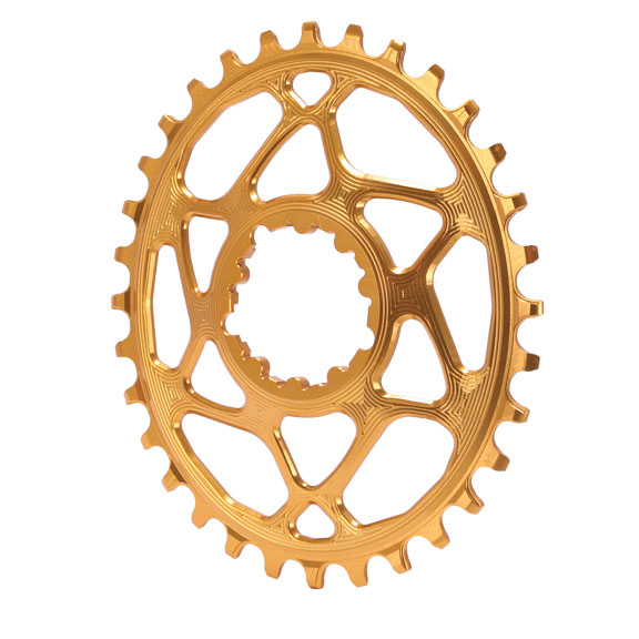 Spiderless  GXP DM Oval Chainring, 32T - Gld  the latest