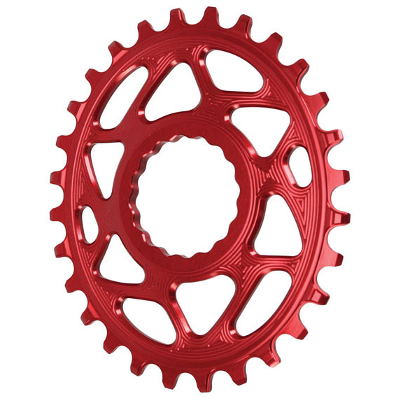 Spiderless Cinch DM Oval Chainring, 28T - Red
