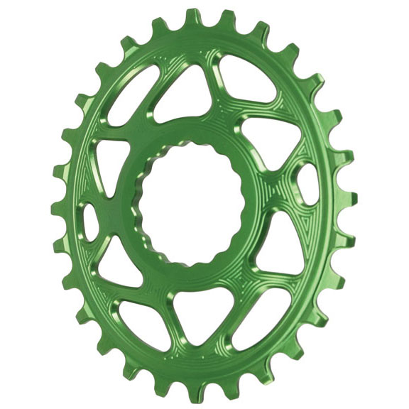 Spiderless Cinch DM Oval Chainring, 28T  verde