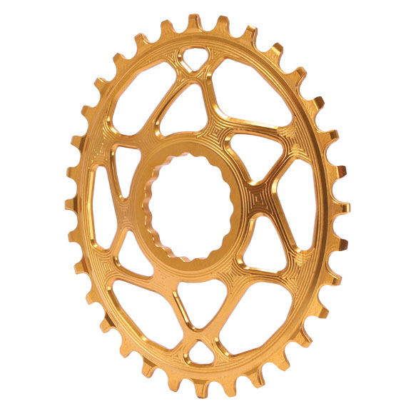 Spiderless  Cinch DM Oval Chainring, 30T - gold  free shipping!