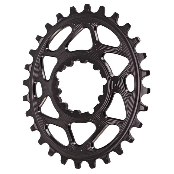 Spiderless GXP Boost3mm DM Oval Chainring, 28T  Bl