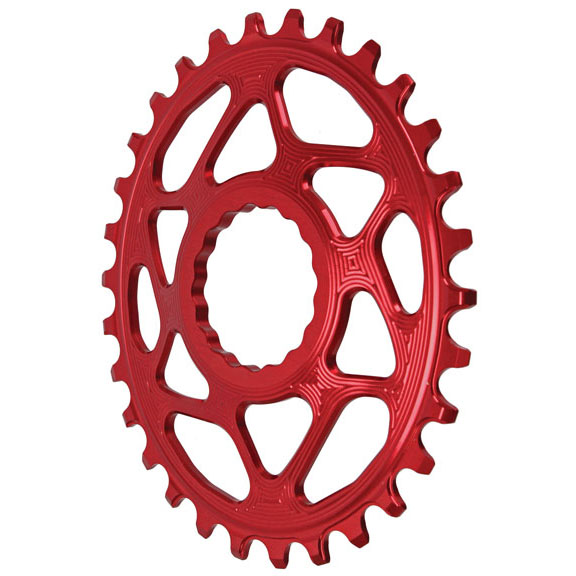 Spiderless Cinch DM  Oval Boost Chainring, 30T - Red  no tax