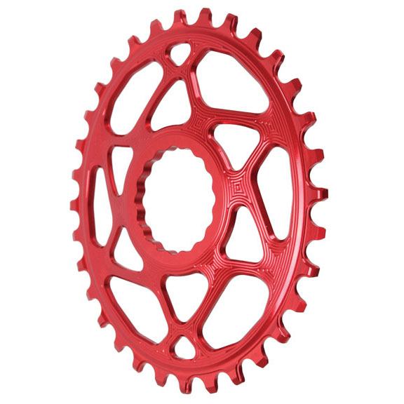 Spiderless Cinch DM Oval Boost Chainring, 32T  - Red  after-sale protection