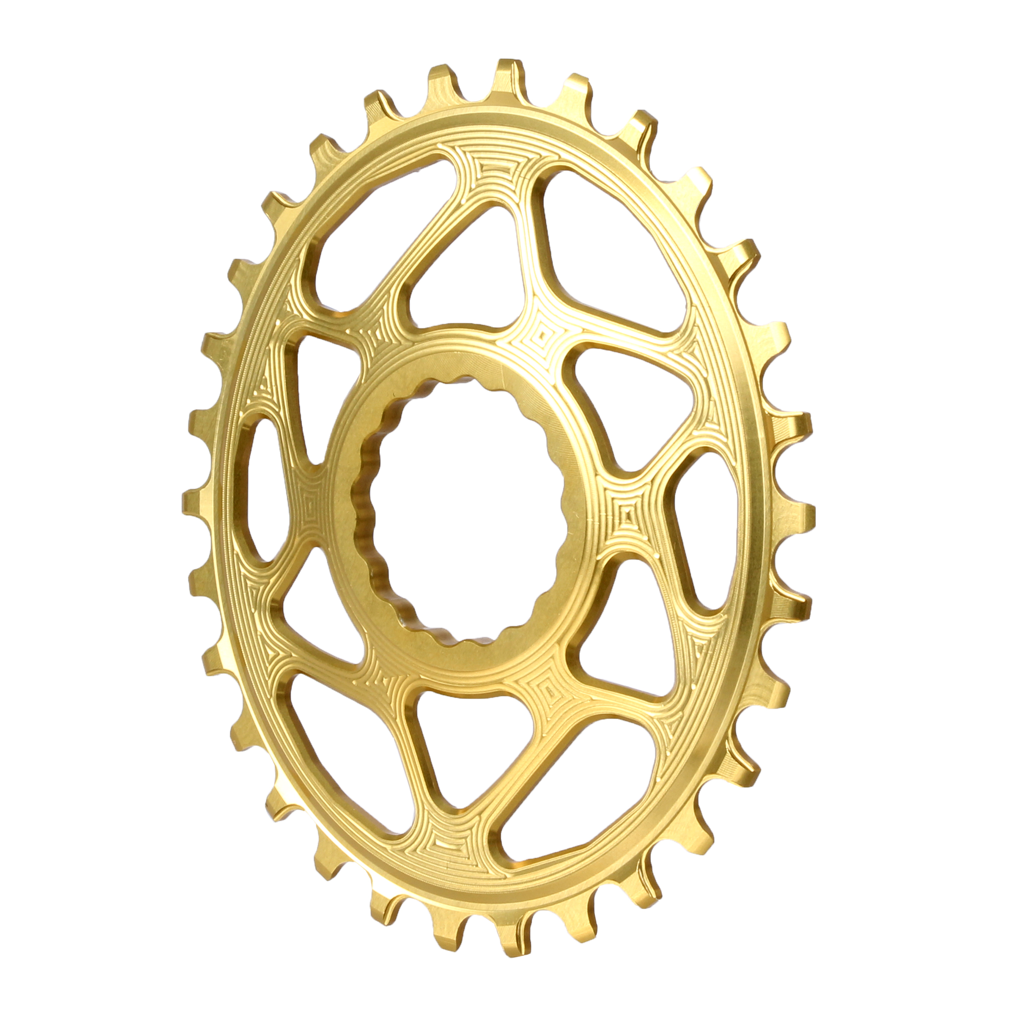 Spiderless Cinch DM Oval Boost Chainring, 30T - Gold