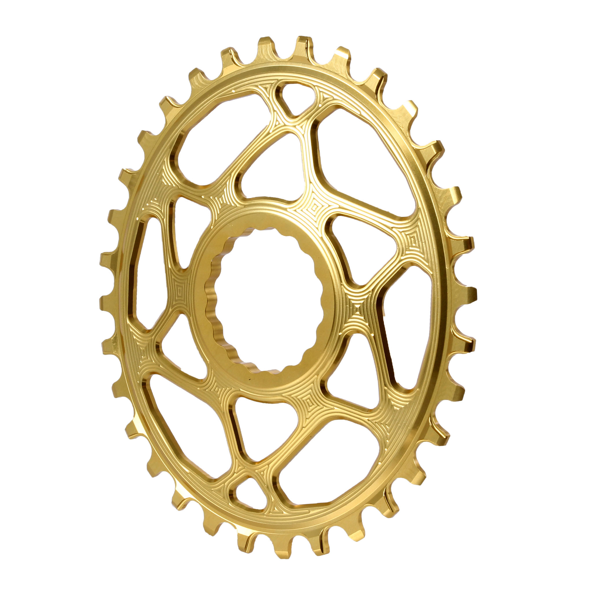 Spiderless Cinch DM Oval Boost Chainring, 32T - gold
