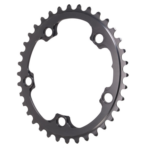 Winter Oval Road Chainring, 5x110BCD 36T - Grey