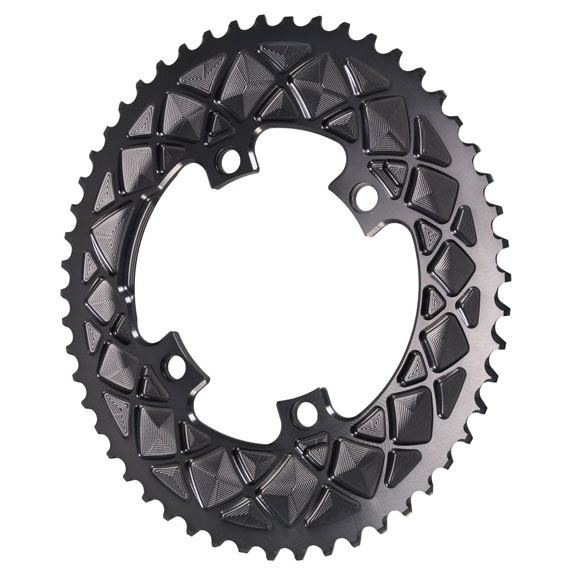 Premium Oval Road Chainring, 4x110BCD 52T - Grey