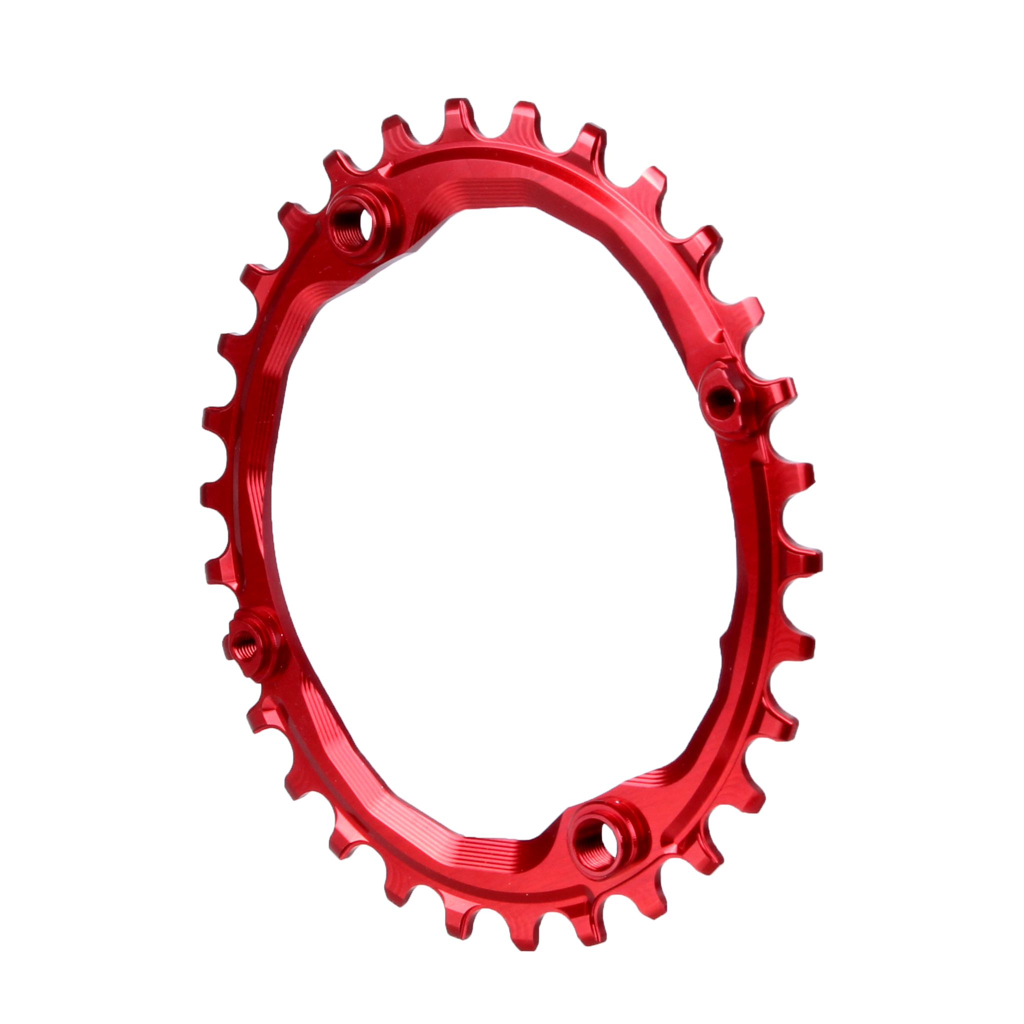 104 Oval Chainring, 104BCD 30t - Red