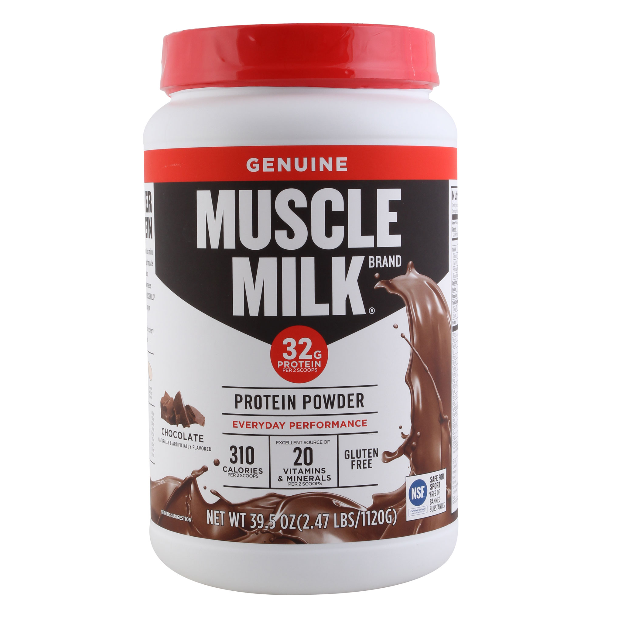 Muscle Milk Drink Mix, Chocolate - 2.47lb Canister