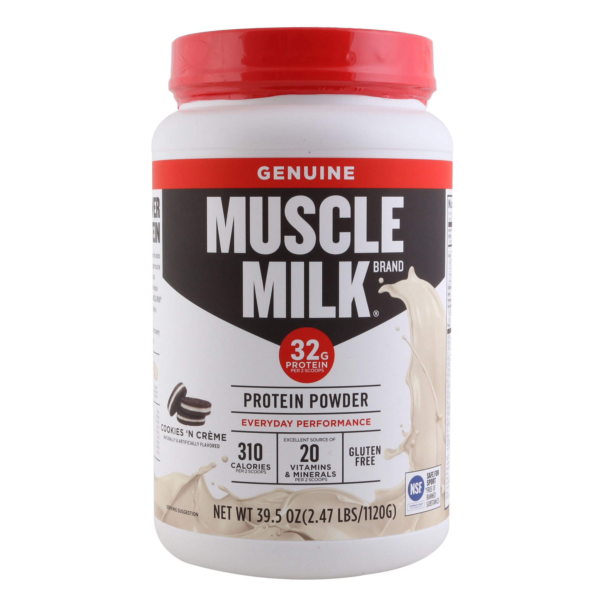 Muscle  Milk Drink Mix, Cookies N Creme 2.47lb Can  free delivery and returns