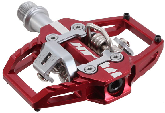 T1 Clipless Platform Pedals, CrMo - Red