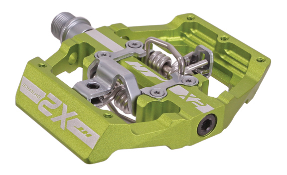 X2  Clipless Platform Pedals, CrMo - Apple Green  80% off
