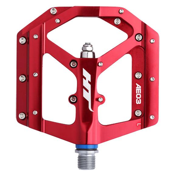 AE03 evo pedales de plataforma, CrMo-Rojo