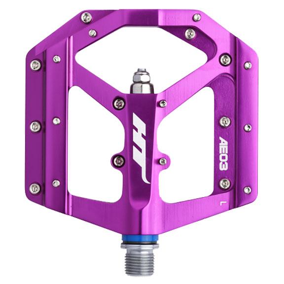 AE03 Evo Platform Pedals, CrMo - Purple